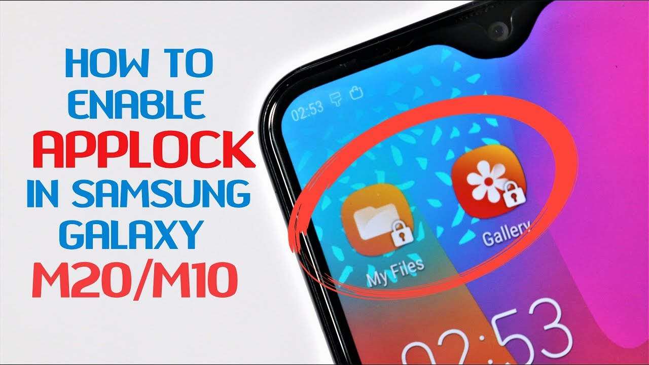 How to Enable applock in Samsung Galaxy M20 & M10 |Hindi|