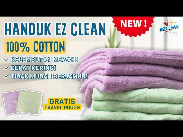 HANDUK TERNYAMAN SUPER MEWAH EZCLEAN TOWEL 100% COTTON & FULL EMBOSS (EZCLEAN NEW PRODUCT)