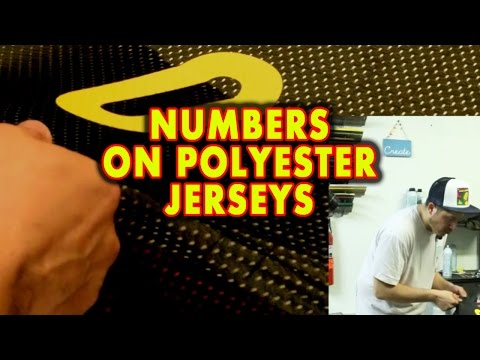 How to Silk Screen Numbers on Polyester Jerseys (hood)