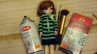Мэйк для куклы + новости моих БЖД кукол