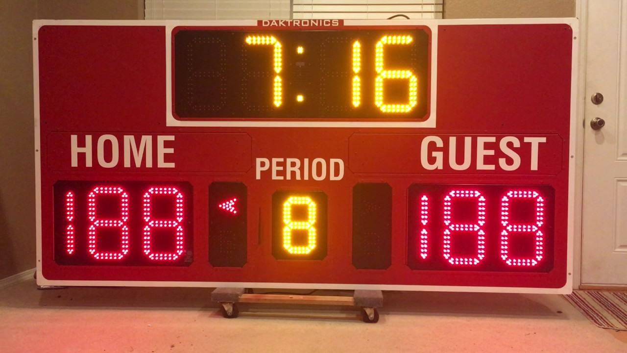 scoreboard basketball daktronics bb 2101