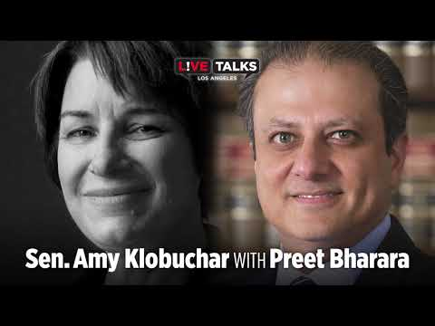 Amy Klobuchar in conversation with Preet Bharara at Live Talks Los Angeles