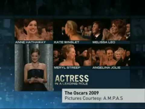 KATE WINSLET Wins An Oscar ! : The Reader | Academy Awards Show 2009