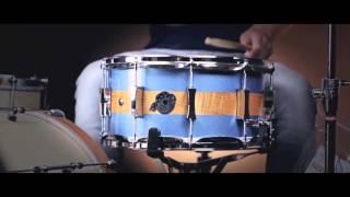 """Pork Pie 14x7"""" D'Lux Maple/Brass Snare Drum"""