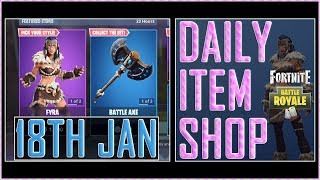 Fortnite: Daily Item Shop (18th Jan 2019) FYRA & JAEGER Featured Skin – Battle Royale New Items