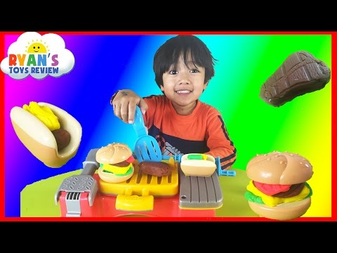 Thumbnail: Play Doh Cookout Creations Playdough make Hotdogs Hamburgers Chicken with Play-doh
