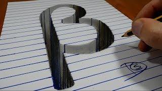 3D Trick Art on Paper   Letter Víta   Στίχοι Βήτα