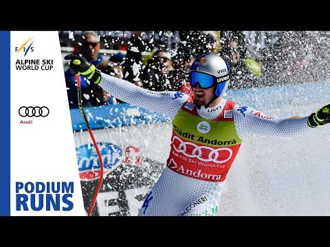 Dominik Paris | Men's Super-G | Soldeu | Finals | 1st place | FIS Alpine