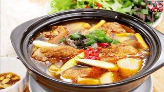 Lẩu Vịt - Cách nấu Bún Lẩu Vịt nhúng Rau thanh nhẹ - Món ăn ngon đãi Tiệc by Vanh Khuyen