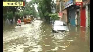 Heavy rains in Kolkata: waterlogging at amherst street  area