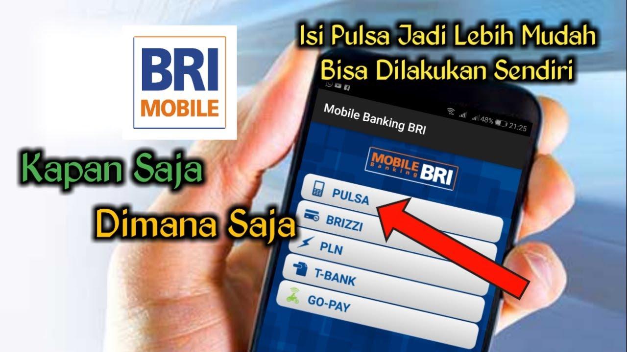 cara beli pulsa via bri mobile banking