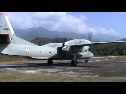 IAF Antonov-32 after landing at Vijaynagar, Arunachal