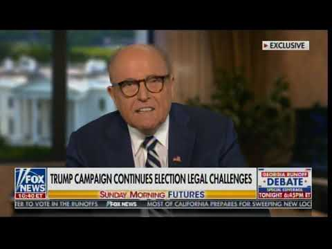 """""""FBI Is Nowhere to be Found!"""" Rudy Giuliani Reveals UNDENIABLE VOTER FRAUD on Sunday Morni"""