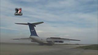 هبوط أول طائرة نقل عسكرية في مطار كويرس العسكري بريف حلب