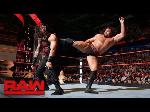 Roman Reigns vs. Rusev: Raw, Aug. 15, 2016