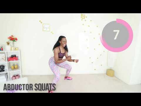 5 Min ROUND HIPS + FLAT BELLY Workout - No Equipment
