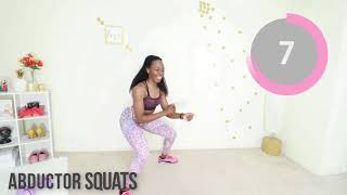 5 Min ROUND HIPS  FLAT BELLY Workout - No Equipment