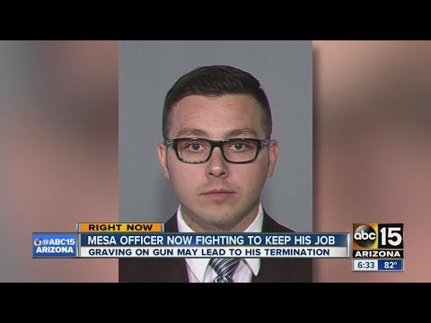 Mesa officer now fighting to keep his job