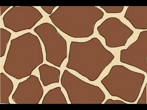 How To Draw Giraffe Print YouTube Magnificent Giraffe Pattern
