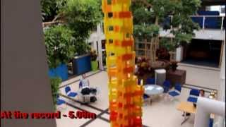 Guinness world record ratified - Tallest freestanding domino tower
