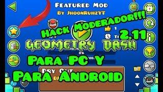 Geometry Dash 2.11 HACK MODERADOR PARA ANDROID Y PC – DESCARGAR POR MEDIAFIRE | JhoonRuiiz