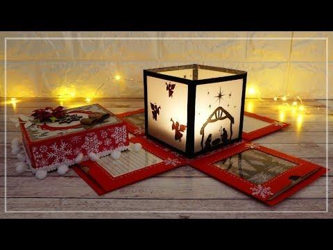 Explosion con Lanterna di natale - Christmas lantern in Explosion Box