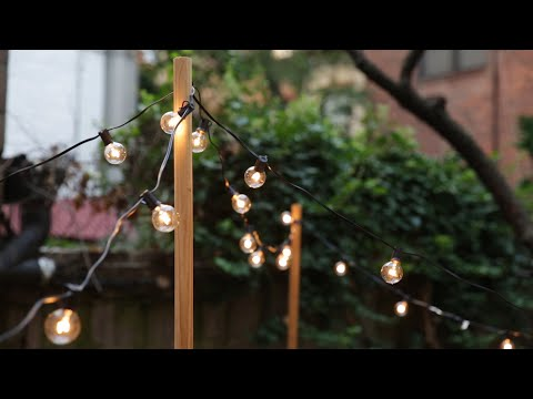 DIY String Lights Hack That'll Make Your Backyard Sparkle