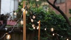 DIY String Lights Hack That'll Make Your Backyard Sparkle