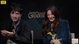 Download Video Ezra Miller and Claudia Kim on J.K. Rowling and how much they know about the future of Harry Potter MP3 3GP MP4