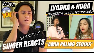 Lyodra and Nuca - AMIN PALING SERIUS | SINGER REACTION