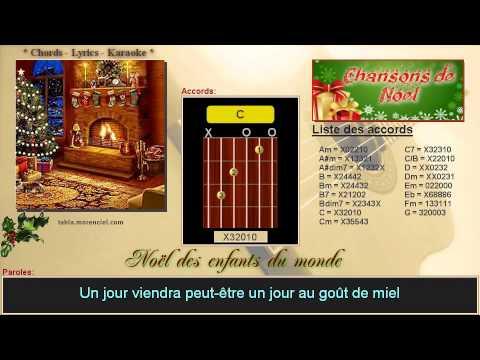 Paroles et accords - Noël des enfants du monde (Cover Karaoke, sans voix)