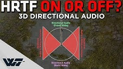HRTF ON or OFF? 3D Directional Audio for gunshots TESTED! - PUBG