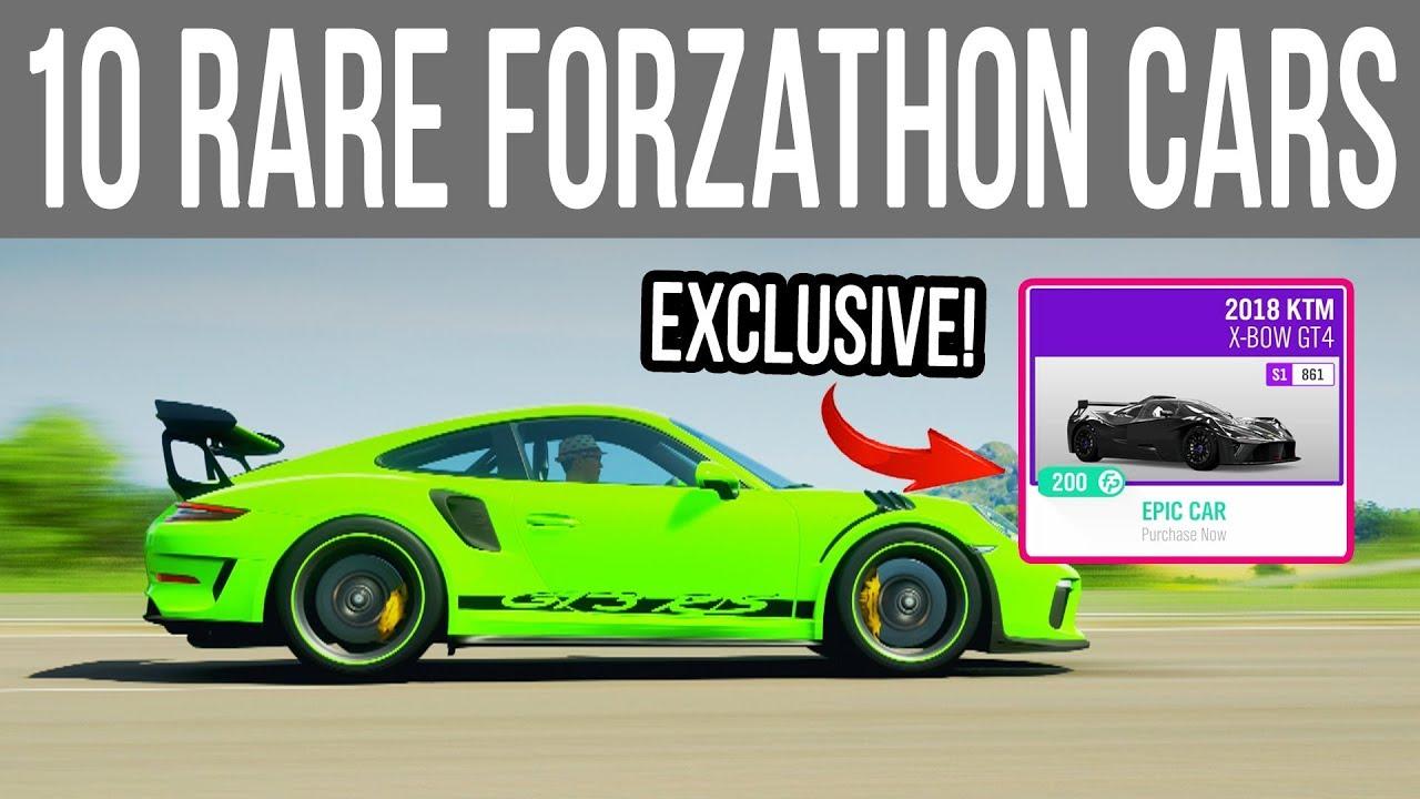Forza Horizon 4 - 10 *Rare* Forzathon ONLY Cars You Didn't Buy!