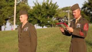 French Fourragere Ceremony -- BLT 3/6, 24th MEU