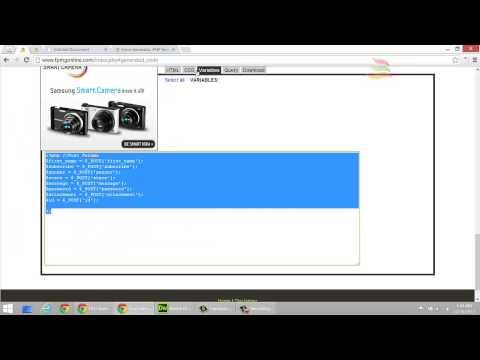 Form Generator PHP Generator MySQL Generator (FPMG) - Generate HTML Forms, PHP & MySQL Code!