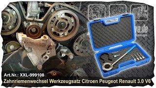 Zahnriemen wechseln beim 3.0L V6 Motor von Renault - Citroen - Peugeot +++ How to