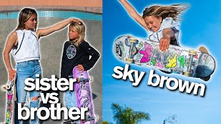 World's Youngest Olympian Races Her Brother To Win Customized ZHC Skateboard | Sky Brown