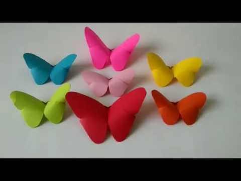 Origami Animal - How to make an Origami Butterfly step-by-step