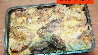 Рыба в духовке под сметанным соусом
