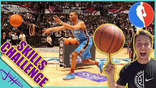 We Tried The NBA SKILLS CHALLENGE! (and Slam Dunk WORLD RECORD!)