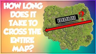 How Long Does It Take To Cross The ENTIRE Map (How to not be a noob) - Fortnite Battle Royale?