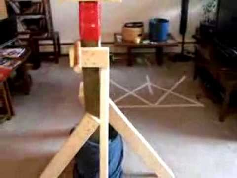 "How to make a homemade "" Wooden Dummy "". Cheap and easy . Prototype 2 . - YouTube"