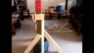 "How To Make A Homemade "" Wooden Dummy "".  Cheap And Easy . Prototype 2 ."