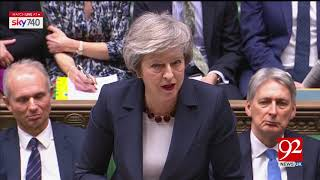 Theresa May decided to submit Brexit bil again   20 Jan 2019   92NewsHDUK
