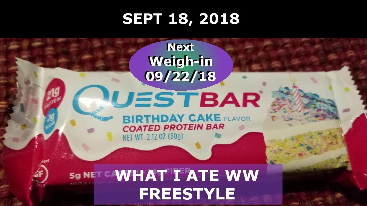 What I Ate On WW Freestyle