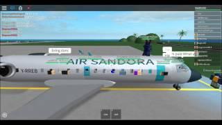 Air Sandora CRJ-200 flight ROBLOX part1