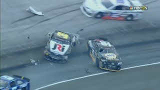 NASCAR K&N Pro Series East 2018. Bristol Motor Speedway. Big Crash