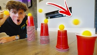 insane ping pong trick shots impossible challenge