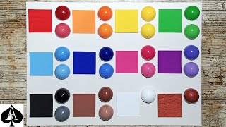 How to use acrylic paint to pigment epoxy resin to any colour