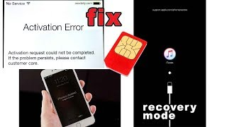 iphone activation error / iphone is disabled - FIX